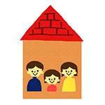 家にいる家族のイラスト